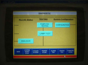 Diagnostic screen