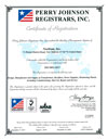 Perry Johnson Registrars Certificate of Registration for ISO-9001-2015